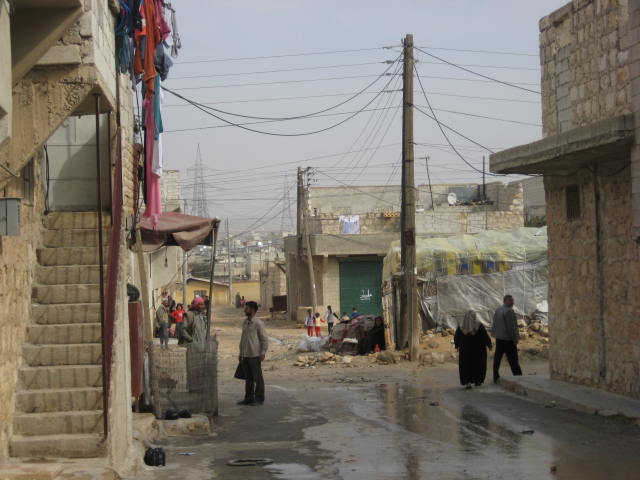 Example of informal settlement in Haidarieh, Aleppo (Syria)